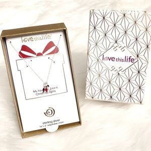NWT Love This Life Sterling Silver Light Necklace